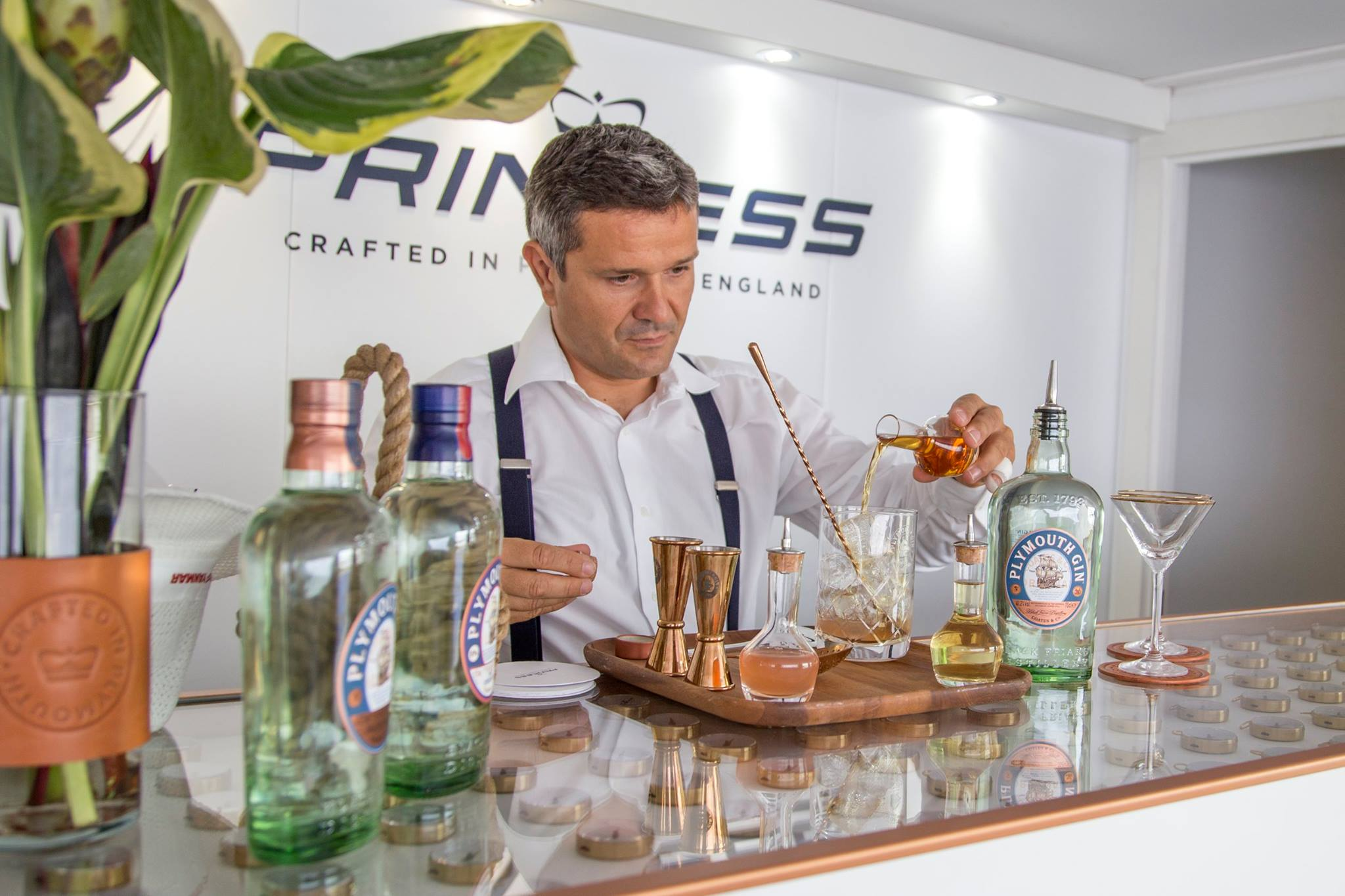 BRITISH HERITAGE BRANDS COLLABORATE: PLYMOUTH GIN & PRINCESS YACHTS